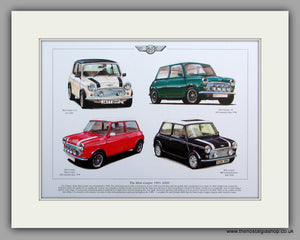 Mini Cooper 1991 - 2000.  Mounted Print