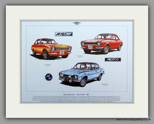 Ford Escort RS. Mk I.  Mounted Print