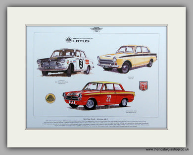 Ford Cortina Mk I Sporting Fords.  Mounted Print