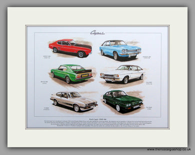 Ford Capri 1969 - 1986.  Mounted Print