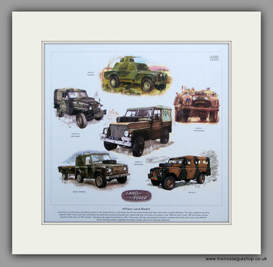 Land Rover Military Editions. Mounted Print.