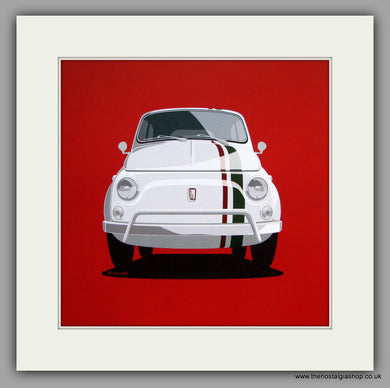 Fiat 500. Mounted Print.