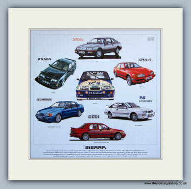 Ford Sierra Mounted Car Print