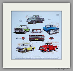 Ford F- Series Pick-Ups. Mounted Print.