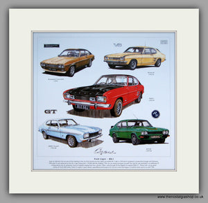 Ford Capri MkI. Mounted Car Print