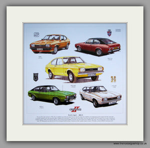 Ford Capri Mk II Mounted Car Print