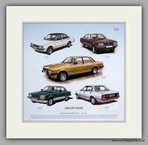 Ford Cortina Mk IV & V Mounted Car Print