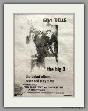 60Ft Dolls. The Big 3. Original Vintage Advert 1996 (ref AD10365)