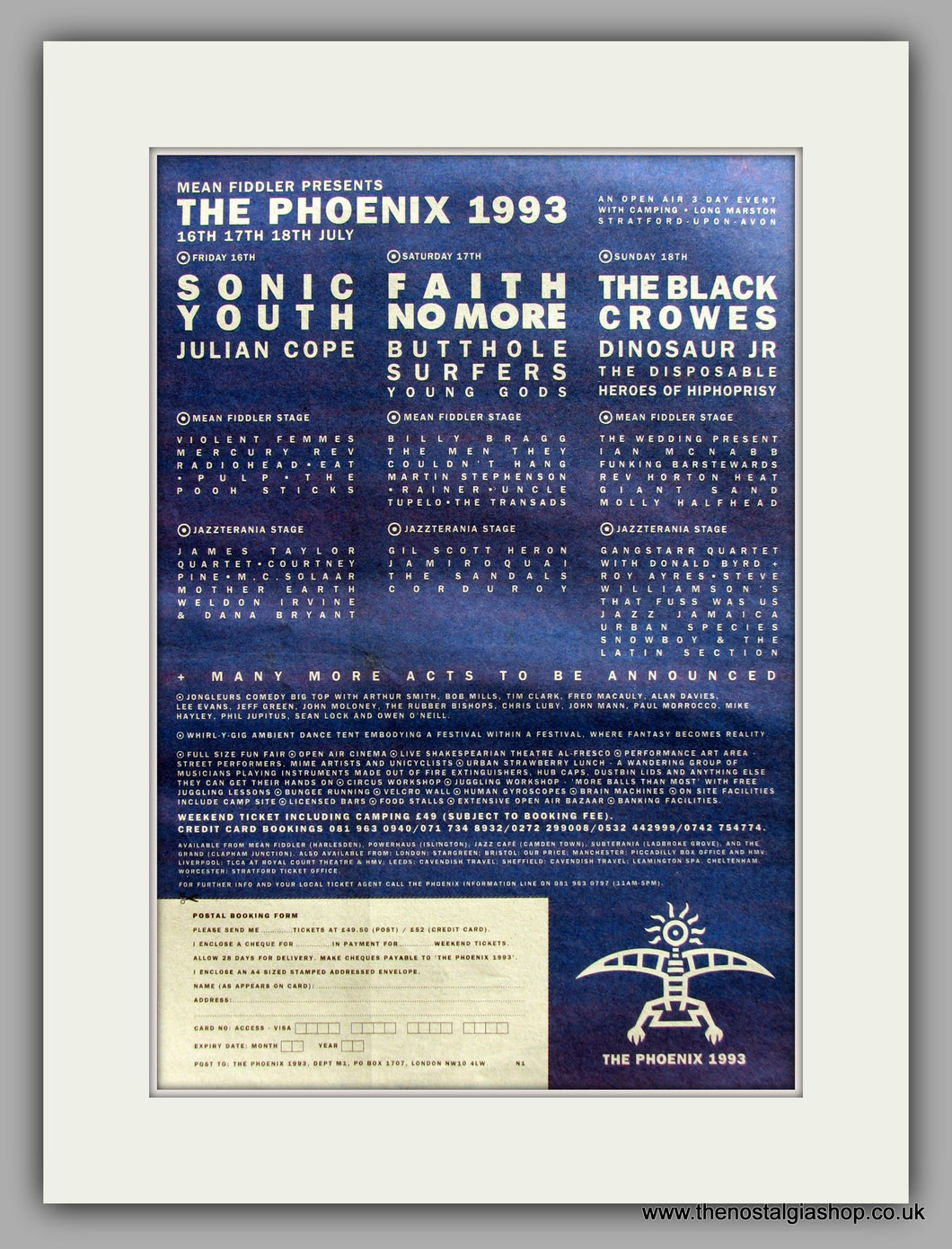 Phoenix (The) Festival.  Original Vintage Advert 1993 (ref AD10566)