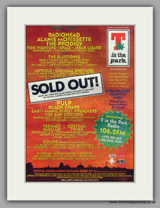 T In The Park Festival Strathclyde Country Park.  Original Vintage Advert 1996 (ref AD10569)