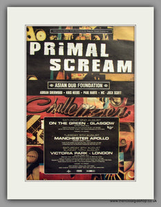 Primal Scream-Asian Dub Foundation.  Original Vintage Advert 1997 (ref AD10577)