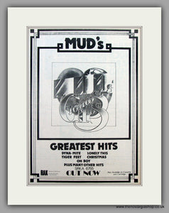 Mud. Greatest Hits.  Original Vintage Advert 1975 (ref AD10445)