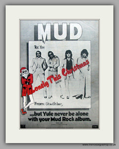 Mud. Lonely This Christmas.  Original Vintage Advert 1974 (ref AD10446)
