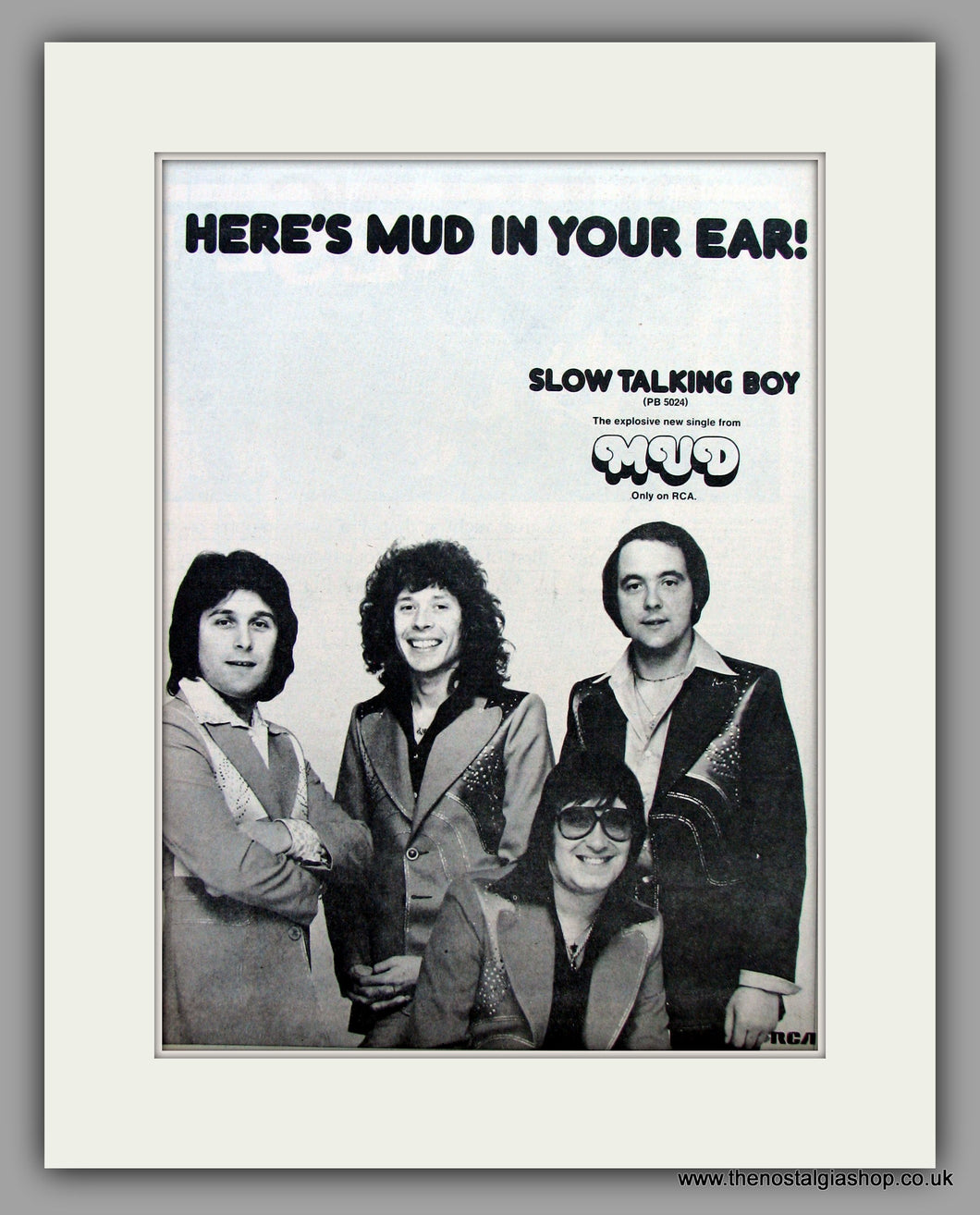 Mud. Slow Talking Boy.  Original Vintage Advert 1977 (ref AD10447)