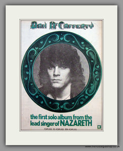 Nazareth. Dan McCafferty. Debut Album.  Original Vintage Advert 1975 (ref AD10452)