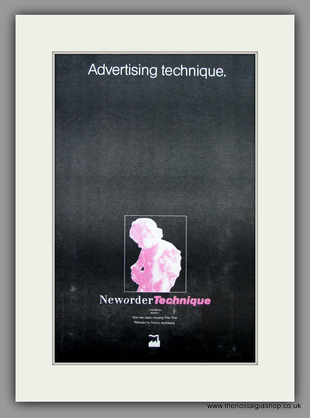 Neworder. Technique. Original Vintage Advert 1989 (ref AD10454)