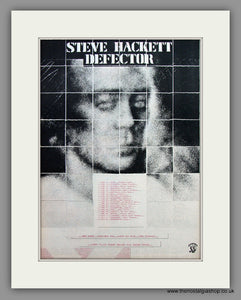 Steve Hackett. Defector. UK Tour Dates. Original Advert 1980 (ref AD10464)