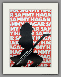 Sammy Hagar. Heartbeat.  Original Vintage Advert 1980 (ref AD10466)
