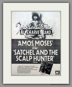 Alex Harvey Band - Amos Moses  Original Vintage Advert 1976 (ref AD10470)