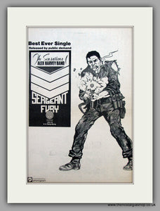 Alex Harvey Band - Sergeant Fury  Original Vintage Advert 1974 (ref AD10471)