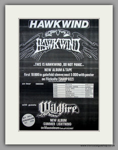 Hawkwind -  This Is Hawkwind Guests Wildfire November Tour.  Original Vintage Advert 1984 (ref AD10473)