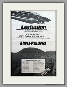 Hawkwind -  Levitation.  Original Vintage Advert 1980 (ref AD10474)
