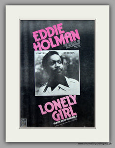 Eddie Holman - Lonely Girl.  Original Vintage Advert 1974 (ref AD10480)