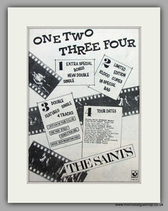 Saints (The) One,Two,Three,Four.  Original Vintage Advert 1977 (ref AD10489)