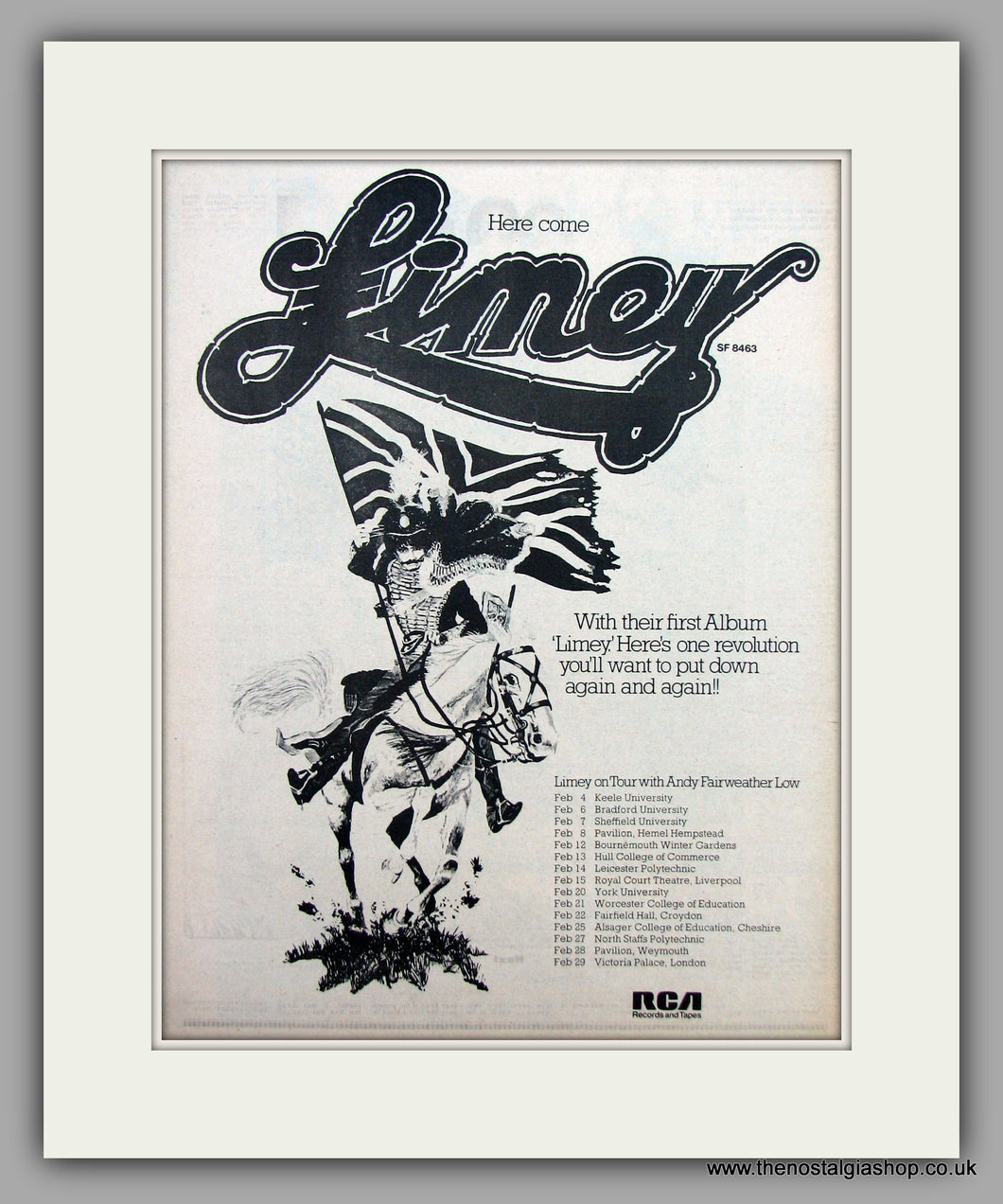 Limey On Tour With Andy Fairweather Low.  Original Vintage Advert 1976 (ref AD10491)