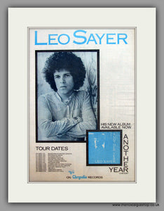 Leo Sayer-Another Year Tour Dates.  Original Vintage Advert 1975 (ref AD10496)