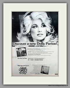 Dolly Parton-New Harvest First Gathering.  Original Vintage Advert 1977 (ref AD10514)