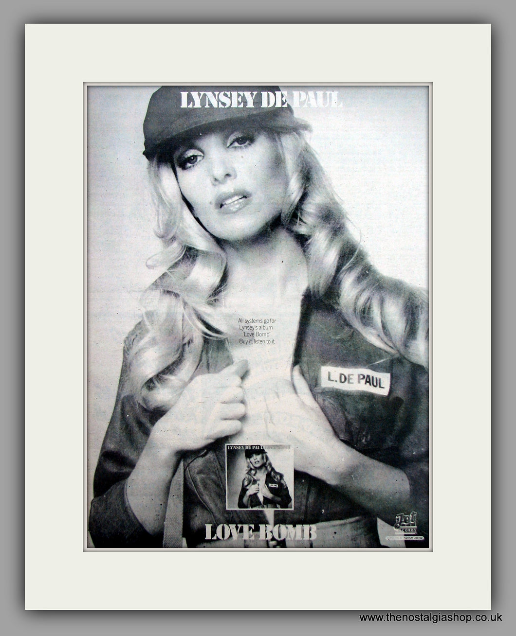 Lynsey De Paul-Love Bomb.  Original Vintage Advert 1975 (ref AD10516)