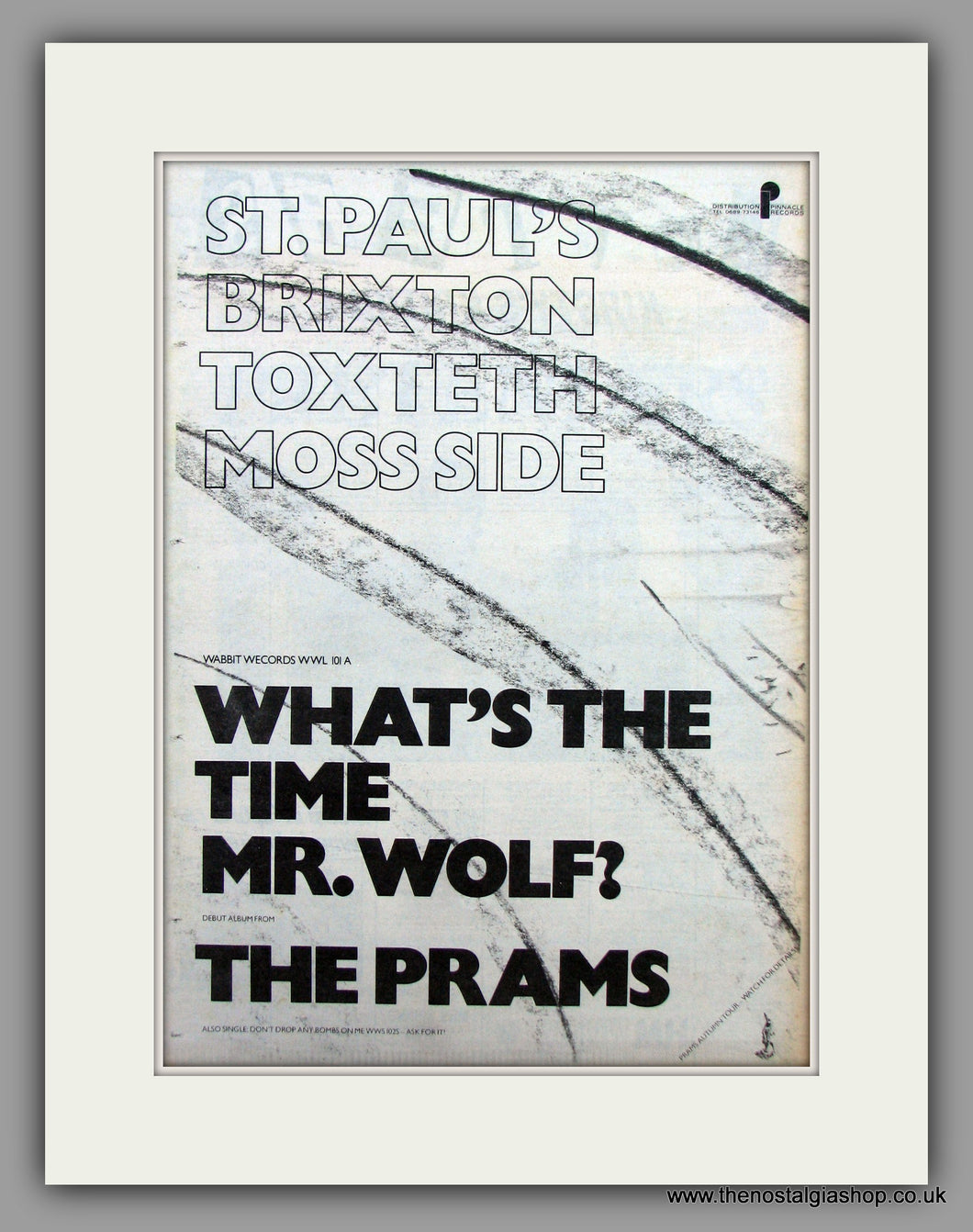 Prams(The)-What's The Time Mr.Wolf.  Original Vintage Advert 1981 (ref AD10526)