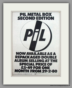 Pil Metal Box Second Edition.  Original Vintage Advert 1980 (ref AD10532)