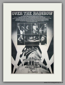 Over The Rainbow Theatre Last Concert.  Original Vintage Advert 1975 (ref AD10540)