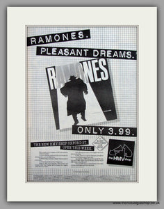 Ramones-Pleasant Dreams.  Original Vintage Advert 1981 (ref AD10541)