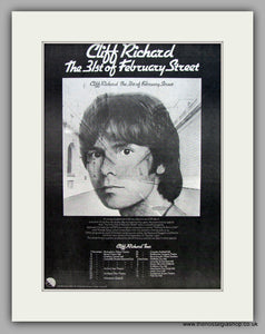 Cliff Richard-The 31st Of February Street.  Original Vintage Advert 1974 (ref AD10547)