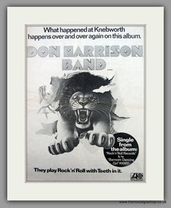 Don Harrison Band-Rock 'n' Roll.  Original Vintage Advert 1976 (ref AD10562)