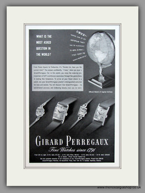 Girard Perregaux Watches. 1949 Original Vintage Advert  (ref AD7937)