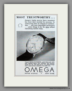 Omega Watches. 1950 Original Vintage Advert  (ref AD7943)
