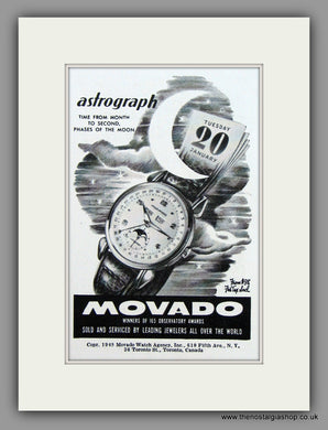 Movado Astrograph Watches. 1949 Original Vintage Advert  (ref AD7946)