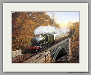 Hagley Hall No.4930. Mounted Railway Print (ref N49)