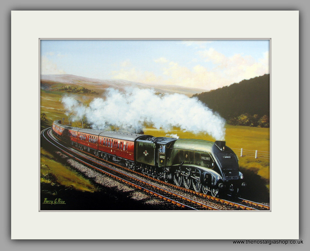 A4 Pacific Mallard No. 60022. Mounted Railway Print.