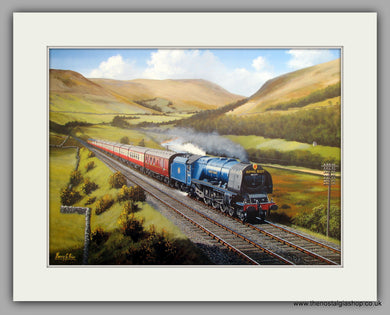 Royal Scott Express 1950 Hauled by Duchess No.46226. Mounted Railway Print (ref N120)