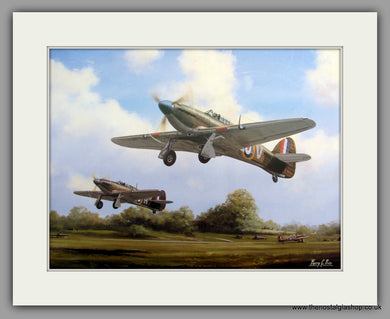 Hurricanes July 1940. Mounted Aircraft print (ref N60)