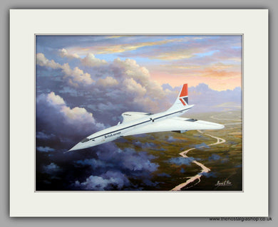 Concorde 'Delta Golf' Mounted Aircraft print (ref N86)