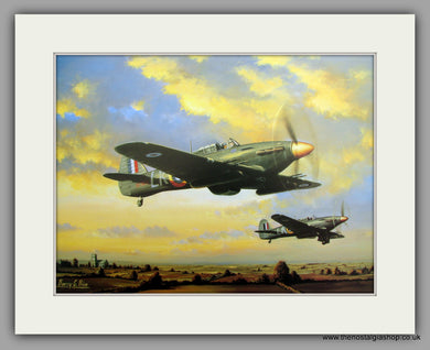 Hurricane MKIIC Night Fighters 1941. Mounted Aircraft print (ref N35)