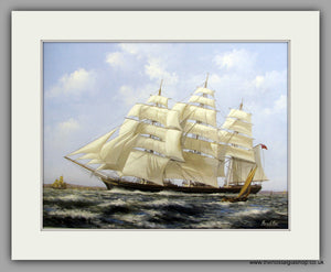 Cutty Sark at sea, Mounted Large Art print (ref N141)