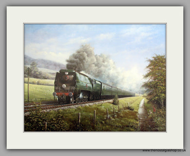 Merchant Navy Class No. 21C9 Shaw Savill 1947. Mounted Railway Print (ref NC5)