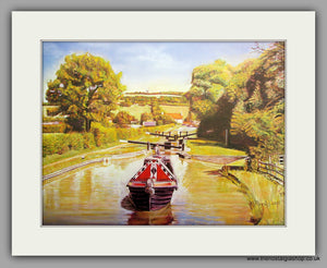 Horse Towing Canal Freight. Mounted Print (ref N91)